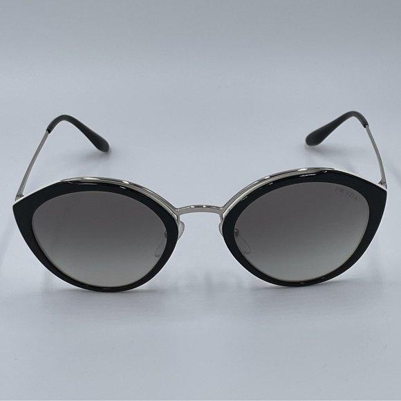 PRADA SPR18U - Black & Grey Mirror Lens Sunglasses NWT